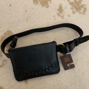❤️donating soon❤️NWT FRYE leather pouch belt